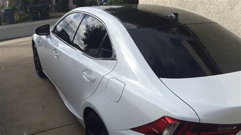 lexus wrapped 3m gloss black roof wrap 2014 lexus is 350 f sport youtube