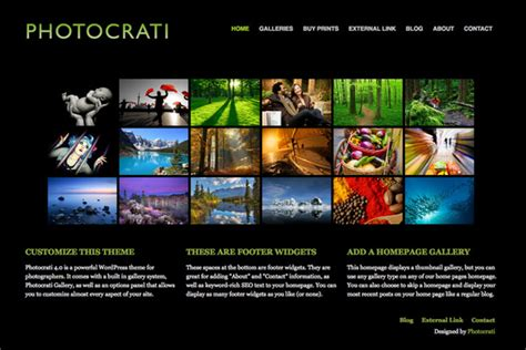 23 Mind Blowing Photography Website Templates Photography Template