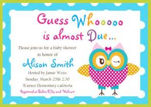 owl baby shower invitations free the world s catalog of ideas