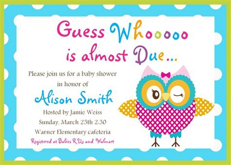 Free Printable Owl Baby Shower Invitations by The World S Catalog Of Ideas