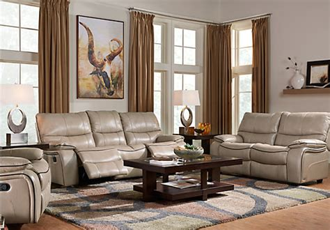 cindy crawford living room furniture cindy crawford home gianna mushroom leather 2 pc living
