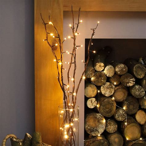 5 Decorative Willow Twig Lights 50 Warm White Leds 87cm Twig Lights