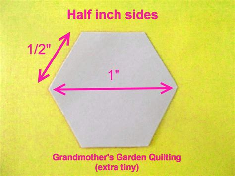 500 paper hexagon templates for patchwork 1 2 inch sides