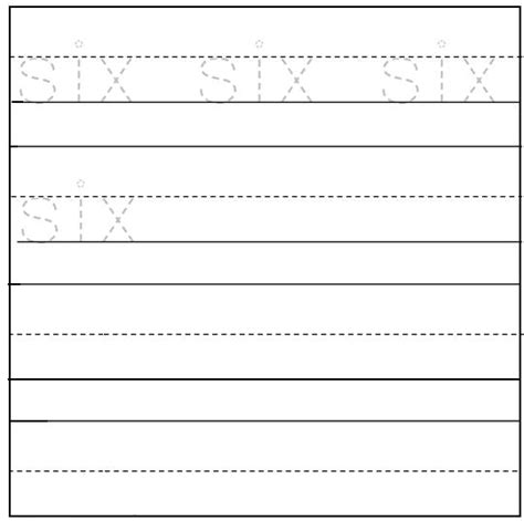 printable worksheets for preschoolers to write their name printable worksheet on number six for preschool kids are