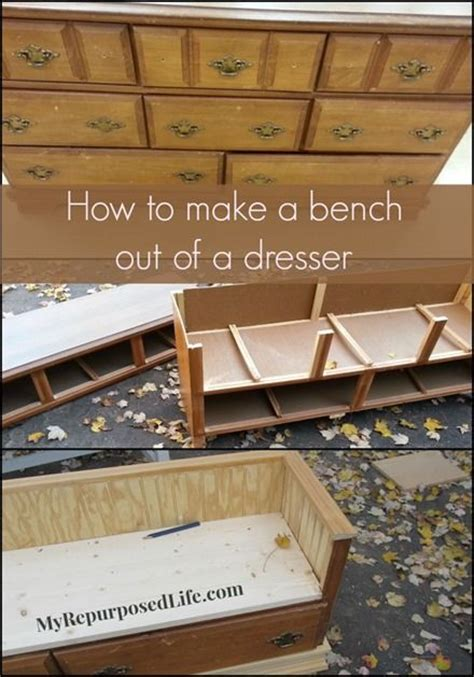 how to make a dresser into a bench how to make a dresser into a bench woodworking projects