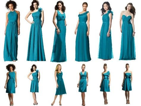 teal color dresses bridesmaid dresses by color teal