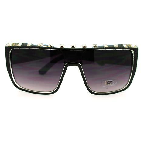 Top Ten Designer Sunglasses To Die For by Dg Eyewear Womens Metal Stud Flat Top Oversized
