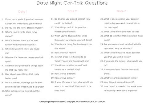 Or Questions For Couples 90 Date Questions For Christian Married Couples Liven Things Up Embracing A Simpler