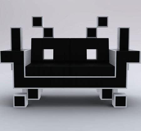space invaders couch the space invader couch can provide comfortable seating
