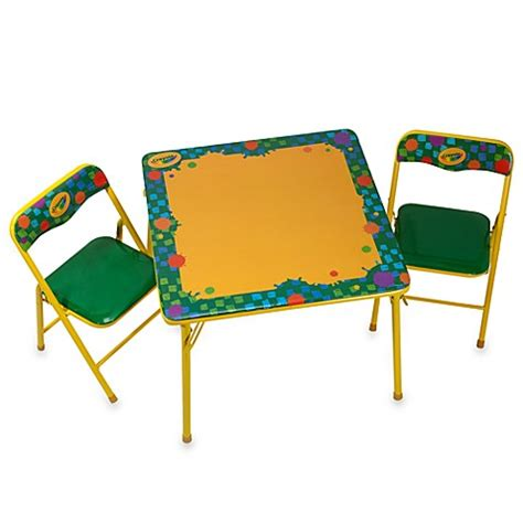 crayola table and chairs crayola 174 erasable activity table and chair set bed bath