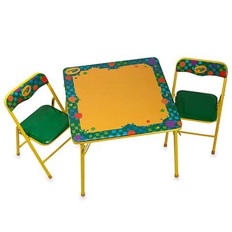 Crayola 174 Erasable Activity Table And Chair Set Bed Bath