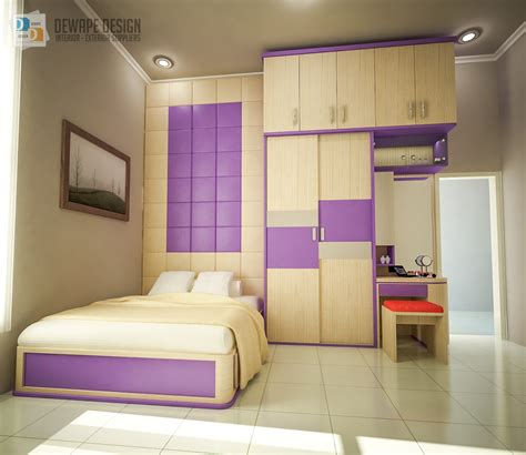 Tempat Tidur Utama Minimalis design bed set kamar utama desain interior kota malang