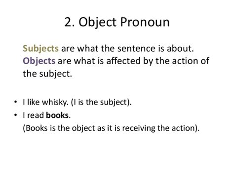comfortable sentence types of sentences and pronouns