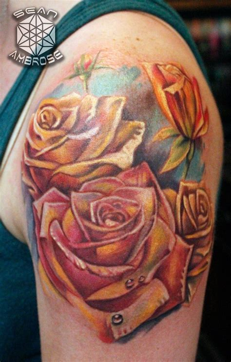 detailed rose tattoos 1000 images about custom tattoos by ambrose on