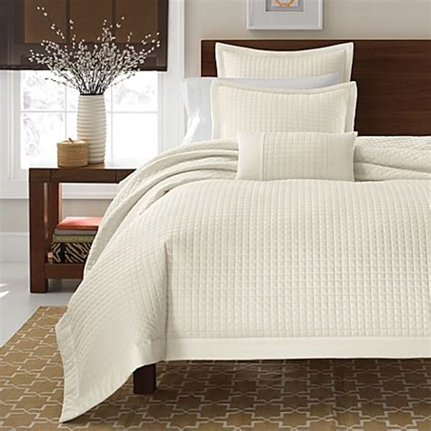 real simple bedding real simple 174 retreat duvet cover 100 cotton sateen 300 thread count ivory bed