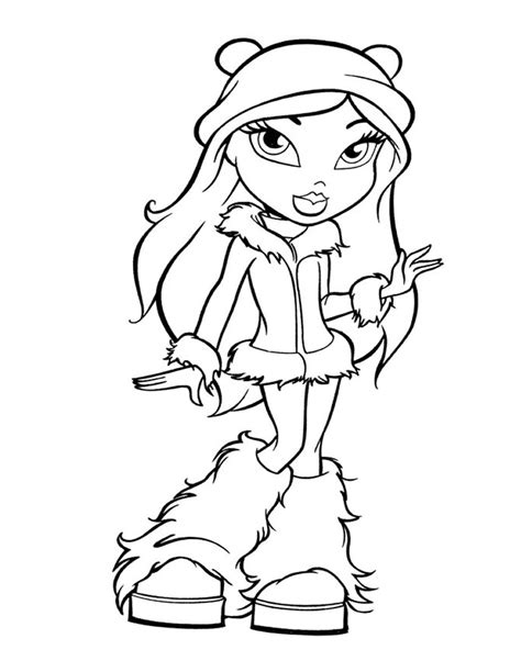 bratz coloring book bratz coloring pages