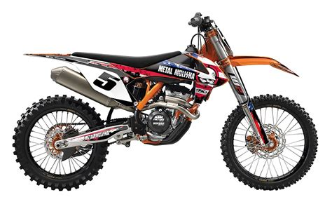 125 Cc Ktm Factory Effex Metal Mulisha Shroud Airbox Graphics Kit