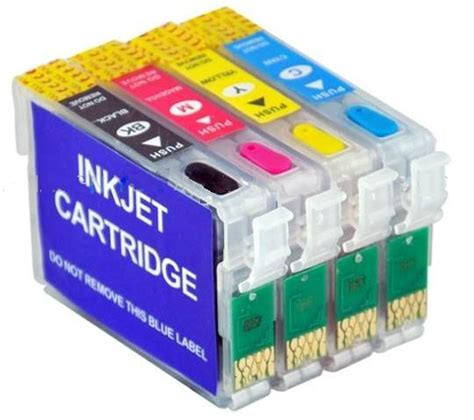 t1811 refillable ink cartridge with reset chips for epson empty refillable cartridges with auto reset chips