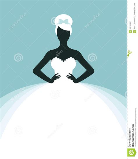 Bride In Wedding Dress Stock Vector Image Of Female 60253482 Wedding Silhouette Template