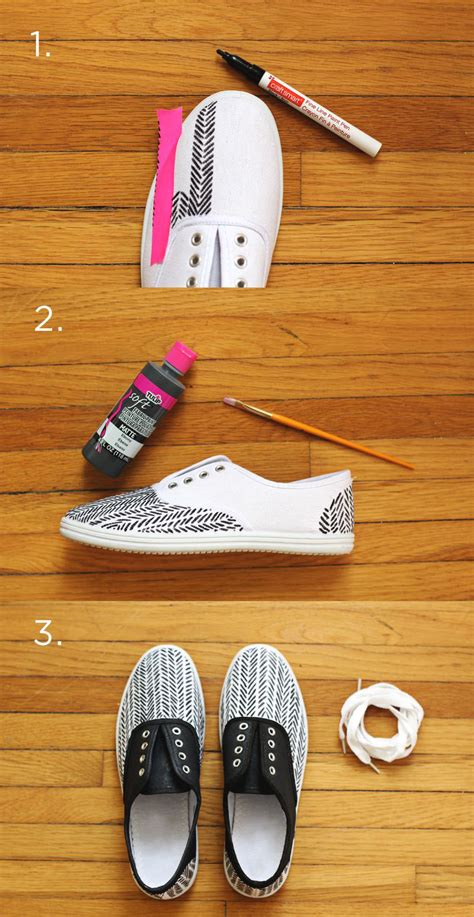 diy shoe diy sneakers for a beautiful mess