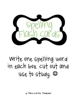 spelling flash cards template spelling flash card template free by this