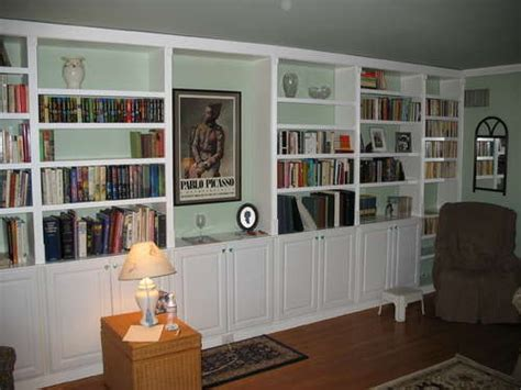 ready made bookshelves get built in bookcases inexpensively by using pre made