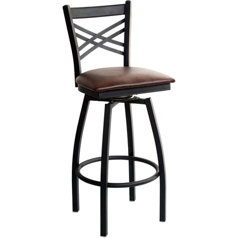 Metal Bar Stools With Backs Swivel X Back Metal Bar Stool