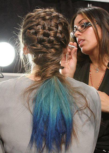 Fashion Weaved Braided Blue 25 best ideas about basket weave hair on
