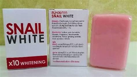 Snail White Thailand snail white soap 10x whitening power 70g thailand best