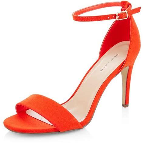 bright orange high heels new look bright orange suedette ankle heeled sandals
