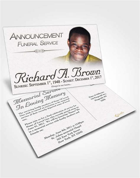 funeral announcement cards templates obituary template trifold brochure free bliss funeralparlour