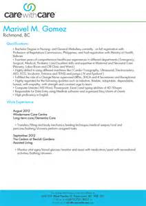 resume caregiver canada 1