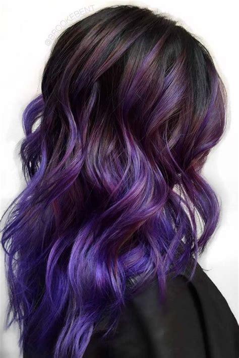 best purple shoo for highlights 15 trendy purple balayage hair ideas styleoholic