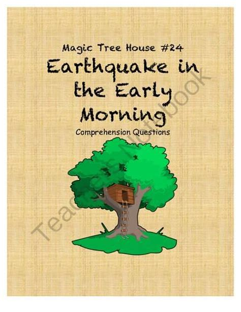 magic tree house printable quizzes magic tree house earthquake in the early morning
