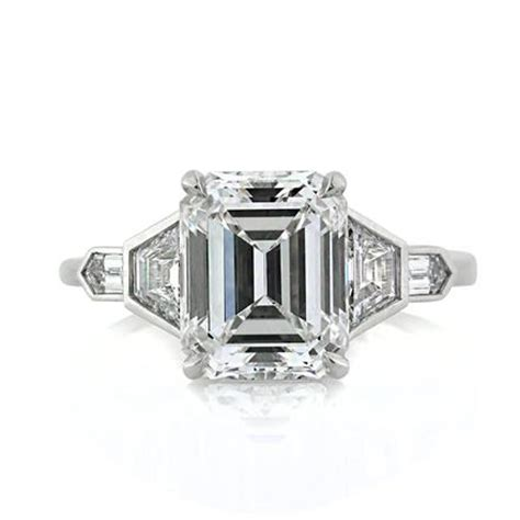 4 48ct emerald cut engagement ring