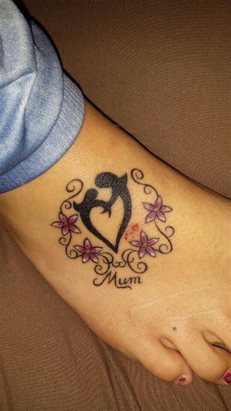 mother daughter heart tattoo designs my flowers pink swirls