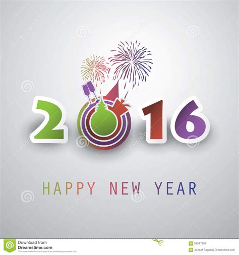 best new year card design best wishes abstract modern style happy new year