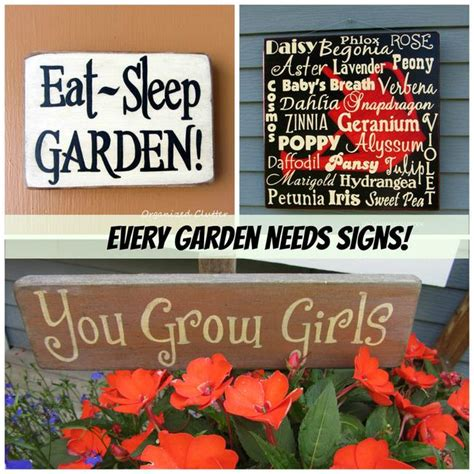 Garden Sign Ideas Creative Garden Sign Ideas And Projects The Garden Glove