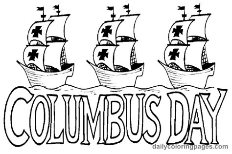 christopher columbus day printable coloring pages world