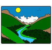 River Cartoon Valley Step By Drawing Lesson