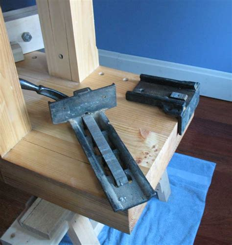install bench vise woodworking bench vise installation