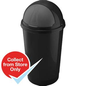 Welcome To Landlord Bullet Proof Buy Heidrun Bullet Bin 50 Litre Black At Home Bargains