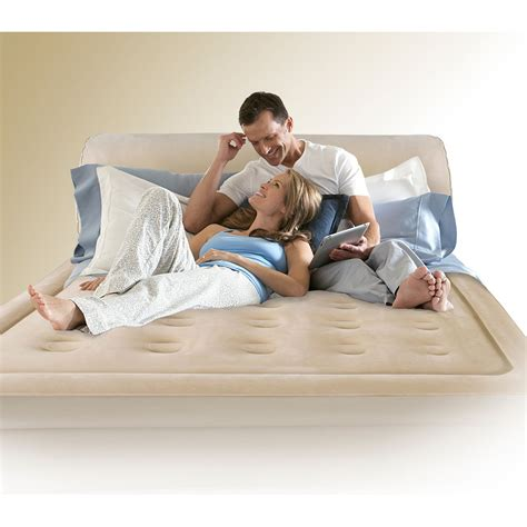 serta queen air bed with headboard serta perfect sleeper queen air bed with headboard 90 quot l x