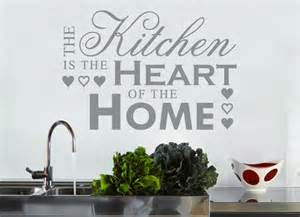 Kitchen Is The Heart Of The Home the kitchen is the heart of the home grafix wall art
