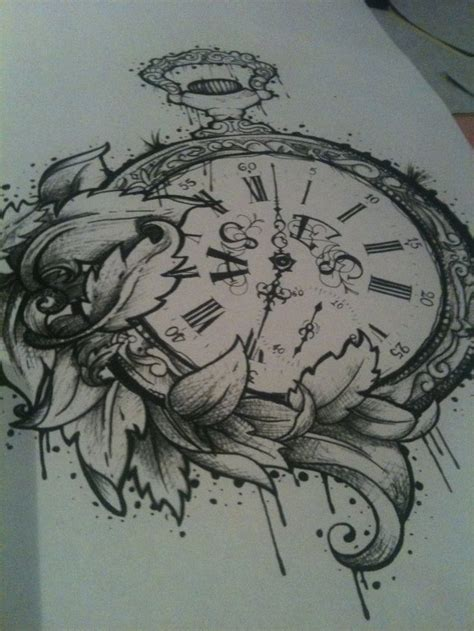 pocket watch tattoo designs 17 best ideas about pocket drawing on