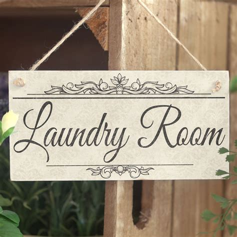 Handmade Wooden Sign - laundry room handmade shabby chic wooden sign plaque