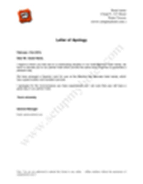 Apology Letter For Hotel Overbooking Hotel Apology Letter In Word And Pdf Formats