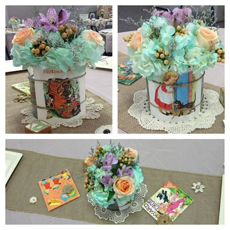 Baby Shower Centerpieces I Cut Pages From Old Nursery Nursery Rhymes Baby Shower Decorations