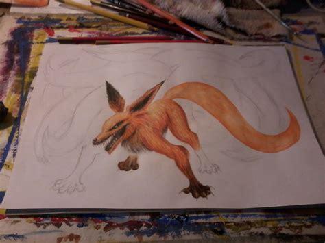 imagenes de zorros a lapiz dibujando al zorro de las nueve colas versi 243 n propia