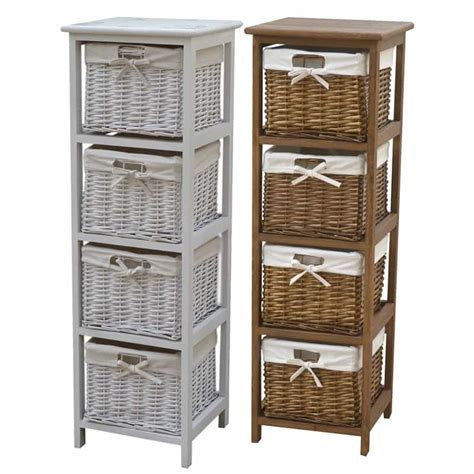 storage cabinets with wicker baskets wicker baskets used as extra storage in the small spaces